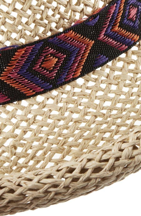 Alternate Image 2  - Topshop Straw Bowler Hat