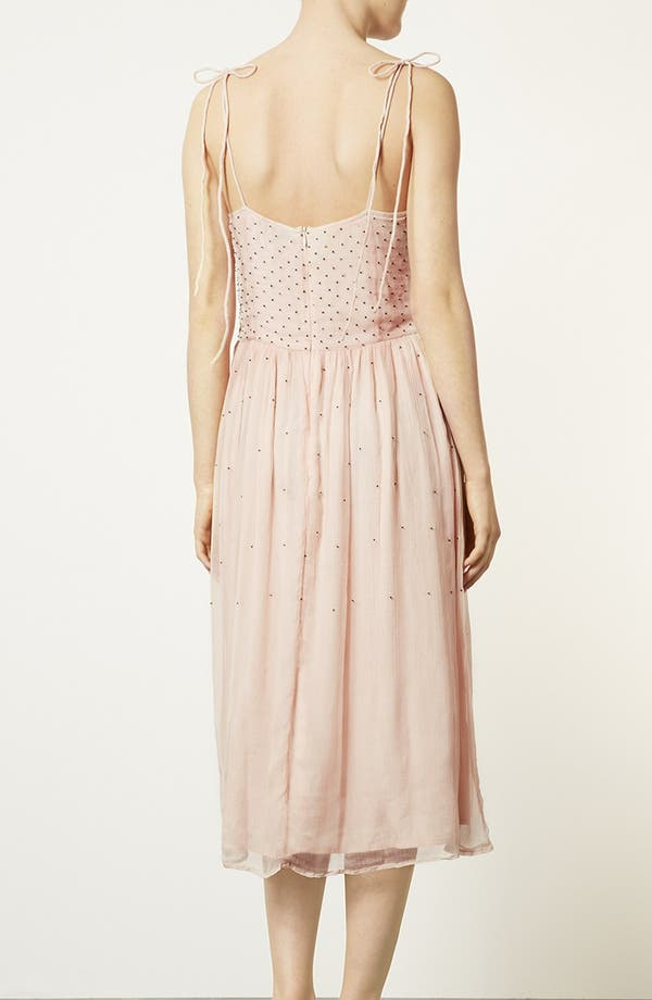 Alternate Image 2  - Topshop 'Debutante' Beaded Midi Dress