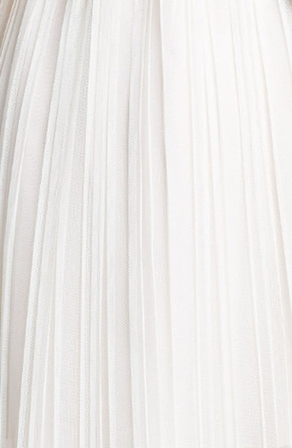 Alternate Image 4  - Ivy & Blu Embellished Pleat Chiffon Dress (Online Only)