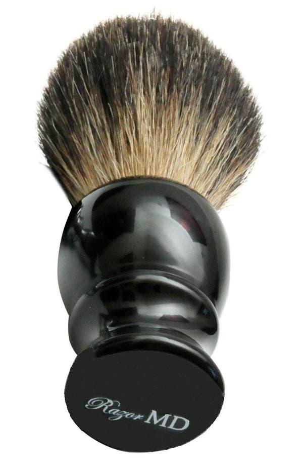 Main Image - Razor MD® 'Black 360' Badger Hair Shave Brush