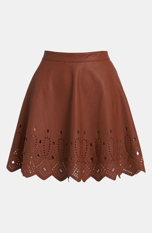 Main Image - ASTR Cutout Faux Leather Skirt