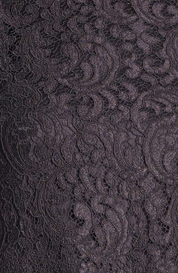 Alternate Image 3  - St. John Collection Plume Lace Overlay Liquid Satin Gown