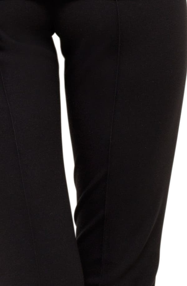 Stretch Jersey Pants,                             Alternate thumbnail 5, color,                             Black