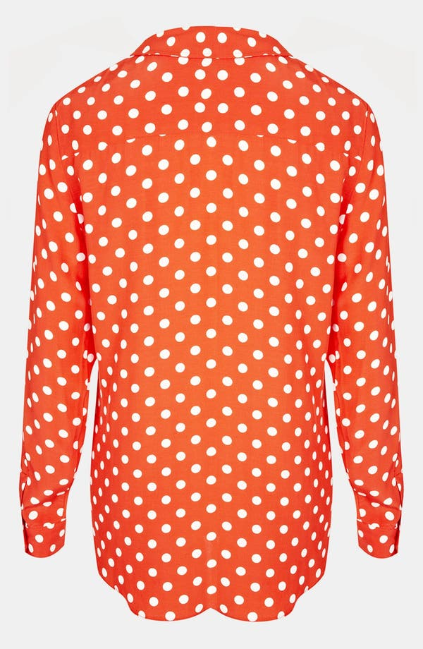 Alternate Image 2  - Topshop Polka Dot Dolman Shirt
