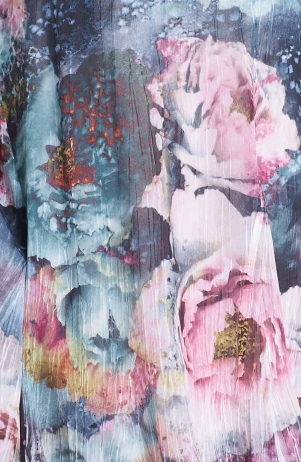 Alternate Image 3  - Komarov Scoop Neck Print Chiffon Dress