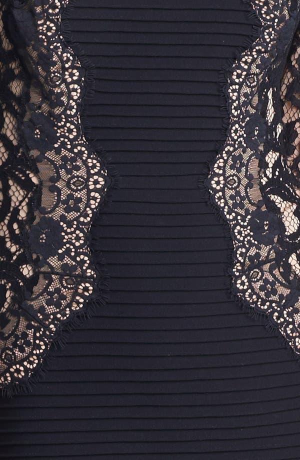 Alternate Image 3  - Tadashi Shoji Lace & Jersey Sheath Dress (Regular & Petite)