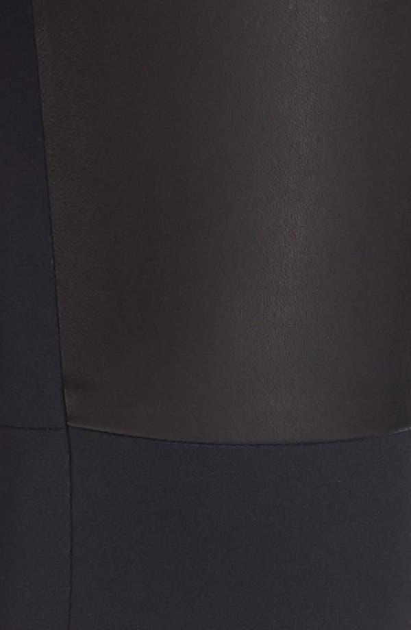 Alternate Image 3  - Milly 'Bri' Leather Panel Leggings