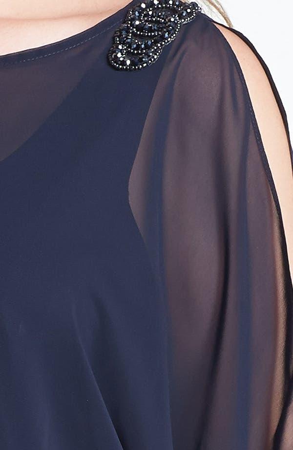 Alternate Image 3  - Xscape Embellished Blouson Bodice Jersey Dress (Plus Size)