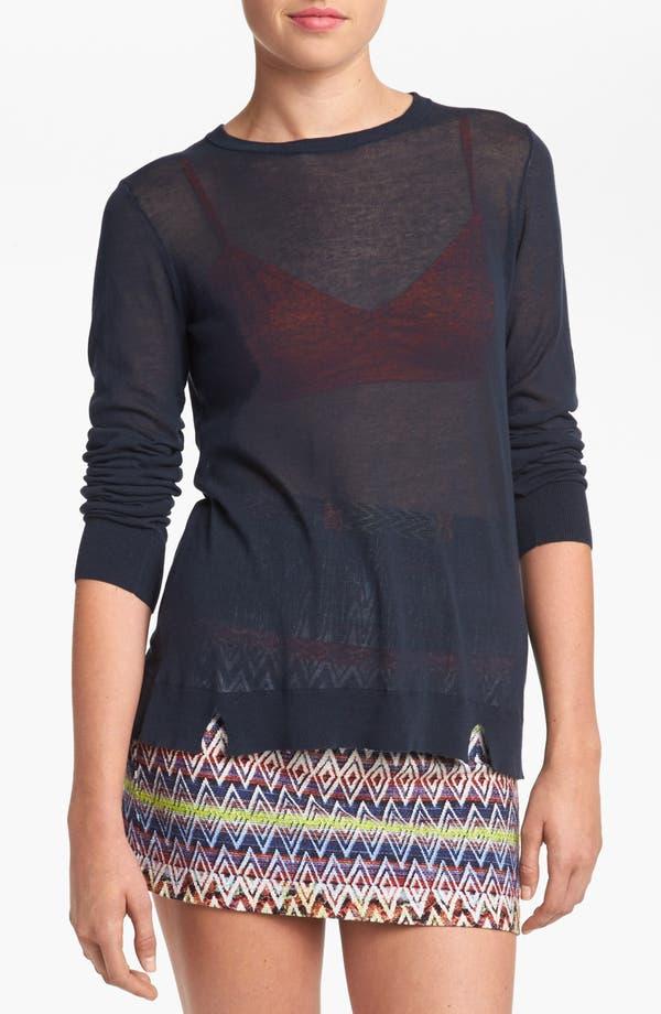Alternate Image 1 Selected - Tildon Sheer Cotton Top