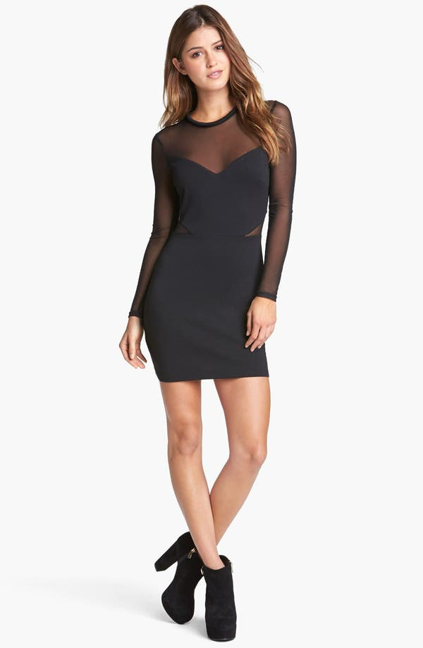 Alternate Image 1 Selected - ASTR Illusion Body-Con Dress