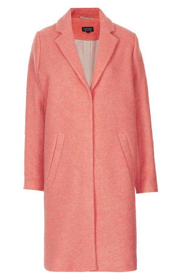 Alternate Image 3  - Topshop Wool Blend Boyfriend Coat