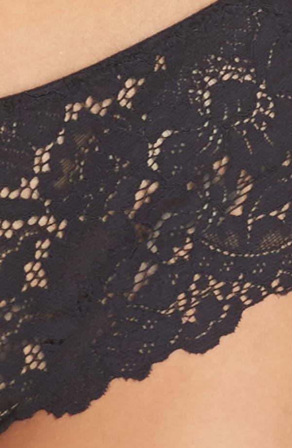 Romeo & Juliette Cheeky Lace Boyshorts,                             Alternate thumbnail 9, color,                             Black
