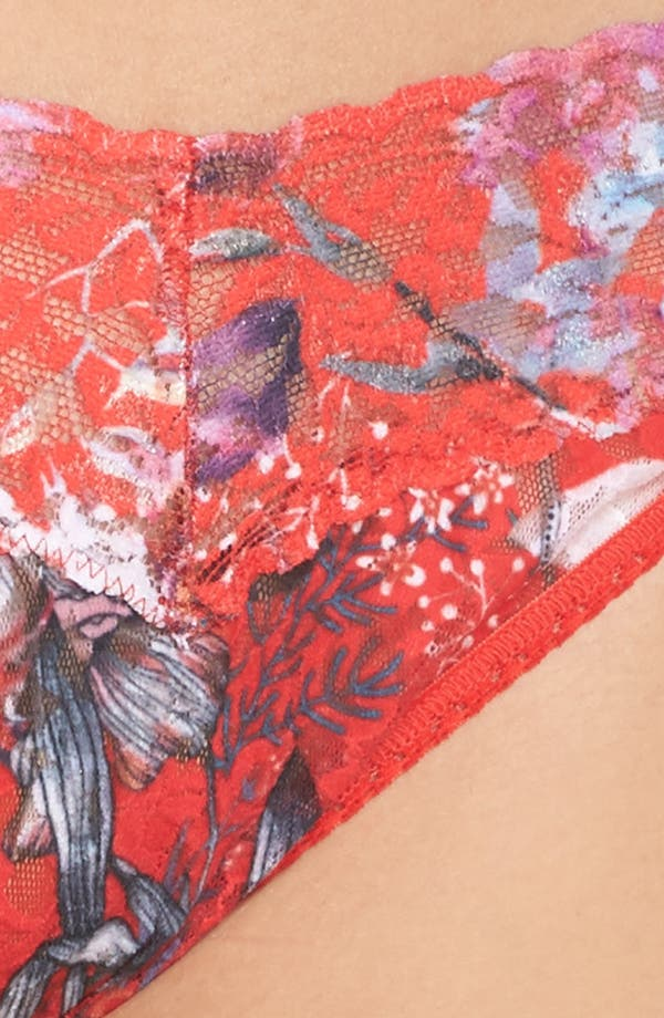 Alternate Image 5  - Hanky Panky Fiery Floral Original Rise Thong