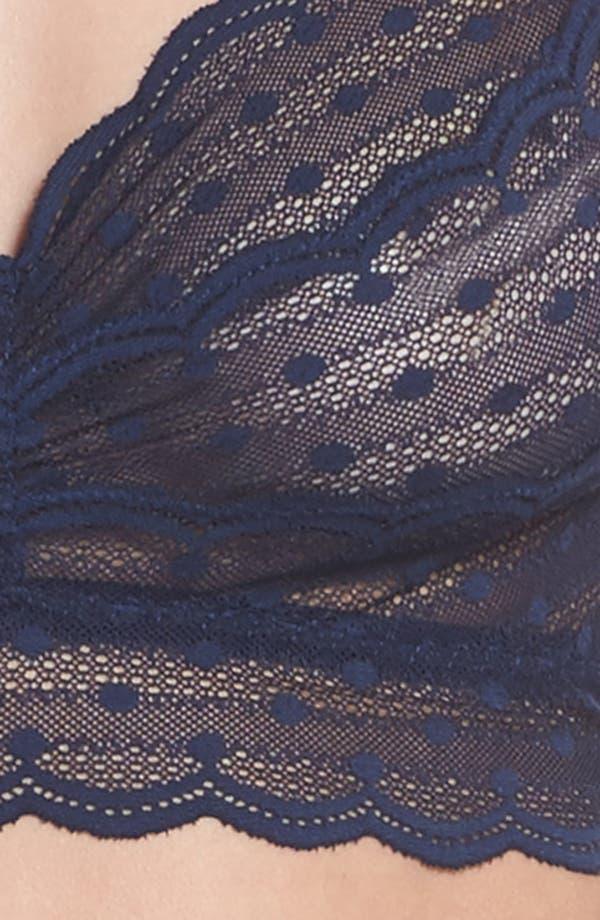 Treats Longline Bralette & Thong Set,                             Alternate thumbnail 6, color,                             Nocturnal Blue