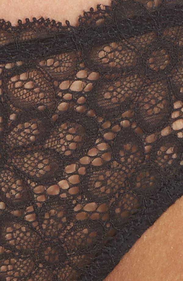Daisy Lace Panties,                             Alternate thumbnail 9, color,                             Black