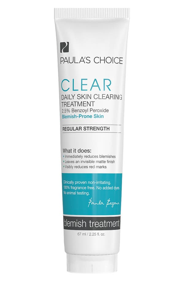 Clear Regular Strength Daily Skin Clearing Treatment,                             Main thumbnail 1, color,                             No Color