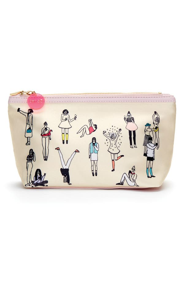 'Looking Good - Selfie' Makeup Bag,                             Main thumbnail 1, color,                             Selfie