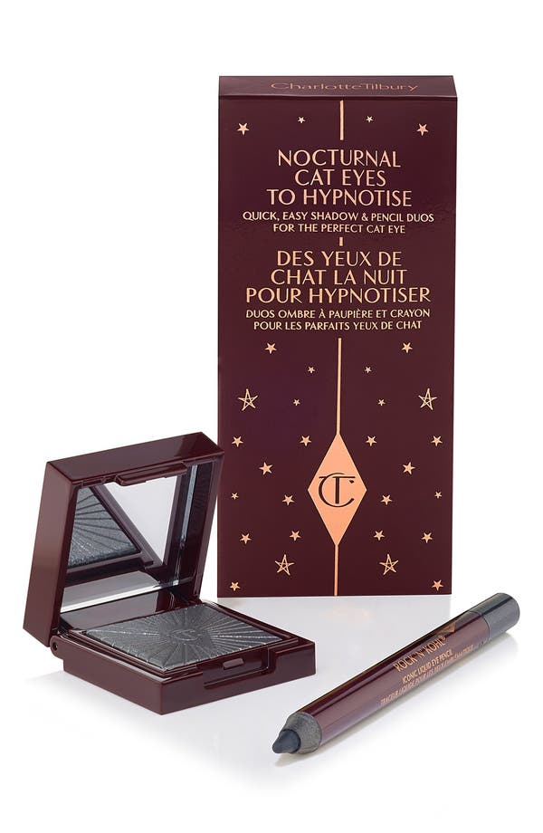 Nocturnal Cat Eyes to Hypnotise Eyeshadow & Eye Pencil Duo,                         Main,                         color, Silver Leopard