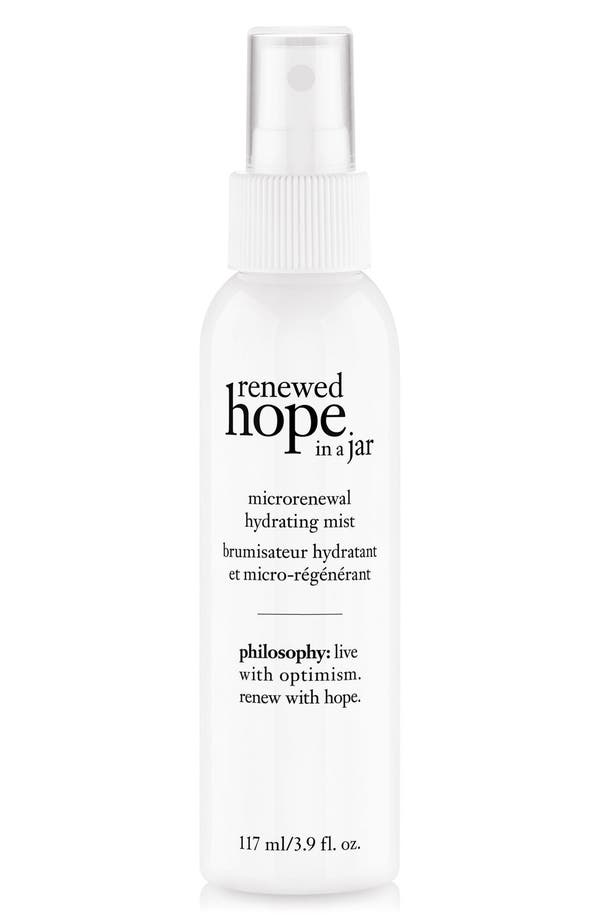 renewed hope in a jar microrenewal hydrating mist,                             Main thumbnail 1, color,                             No Color