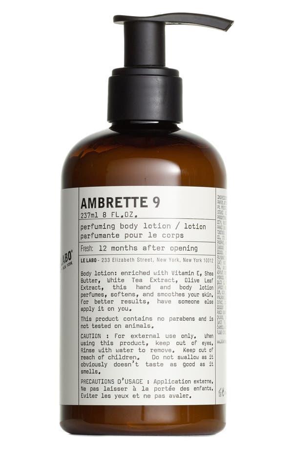 'Ambrette 9' Hand & Body Lotion,                             Main thumbnail 1, color,                             No Color