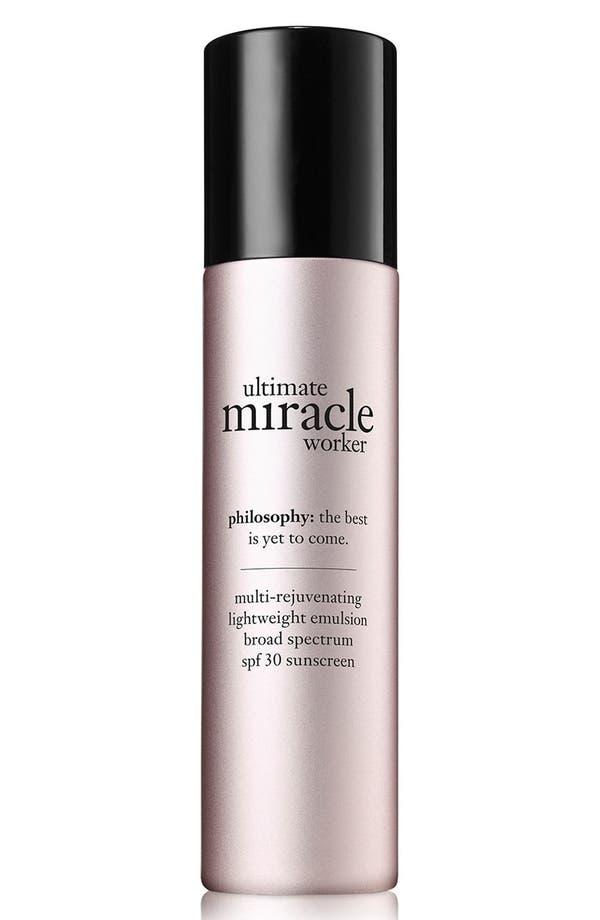 'ultimate miracle worker' multi-rejuvenating lightweight emulsion broad spectrum SPF 30 sunscreen,                         Main,                         color, No Color
