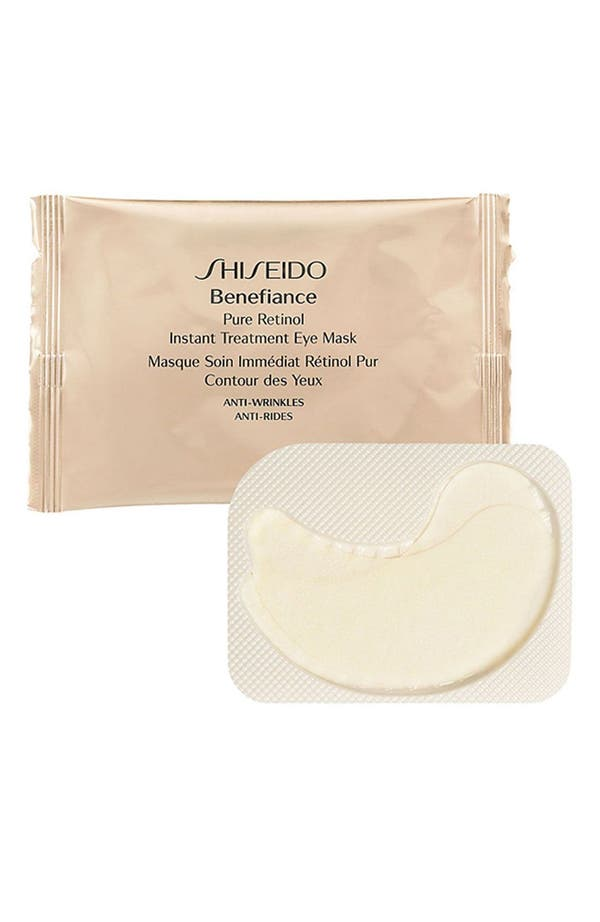 Alternate Image 1 Selected - Shiseido 'Benefiance' Pure Retinol Instant Treatment Eye Mask