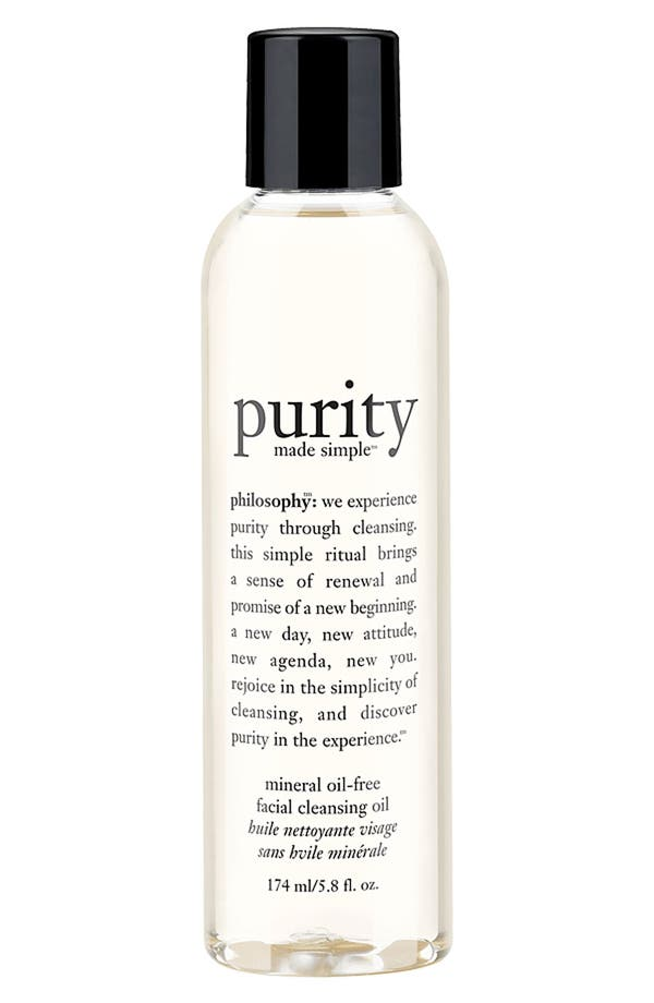 Alternate Image 1 Selected - philosophy 'purity made simple' facial cleansing oil
