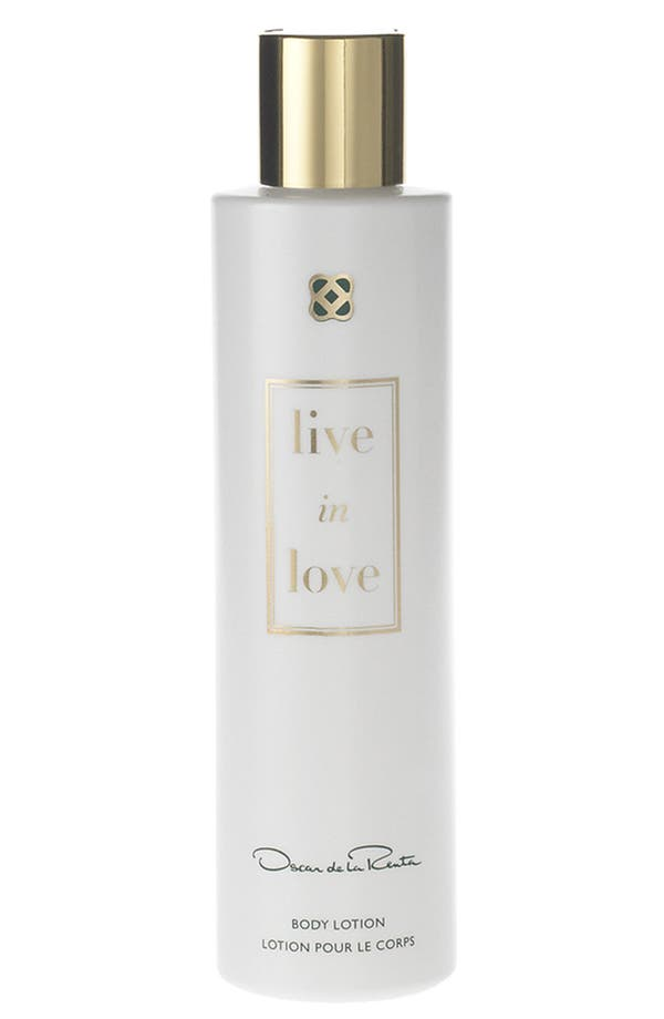 Alternate Image 1 Selected - Oscar de la Renta 'Live in Love' Body Lotion