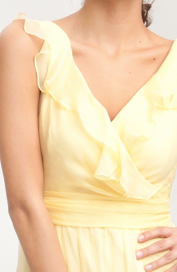 Alternate Image 3  - Amsale Ruffle Crinkle Silk Chiffon Dress