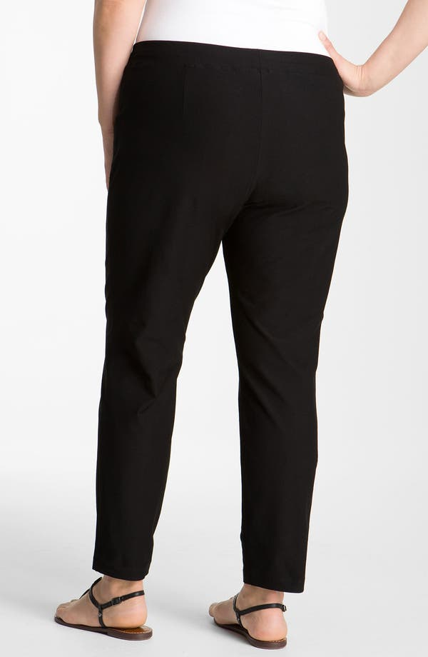 Crepe Ankle Pants,                             Alternate thumbnail 3, color,                             Black