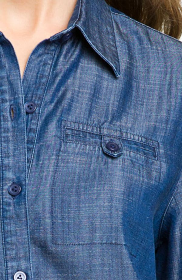 Alternate Image 3  - Foxcroft Roll Sleeve Tencel® Shirt