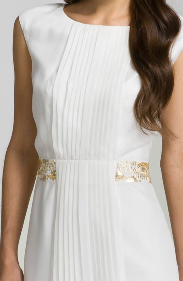 Alternate Image 3  - Calvin Klein Pleat Front Chiffon Dress