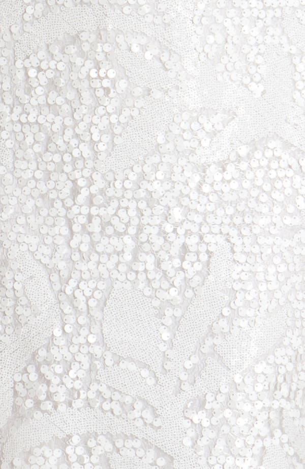 Alternate Image 3  - Donna Ricco Sleeveless Sequin Overlay A-Line Dress