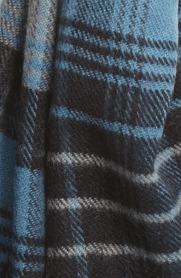 Alternate Image 2  - Free Authority Blanket Plaid Knit Scarf