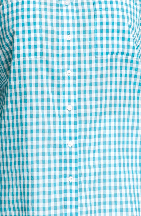 Alternate Image 3  - Sandra Ingrish Gingham Check Shirt (Plus)