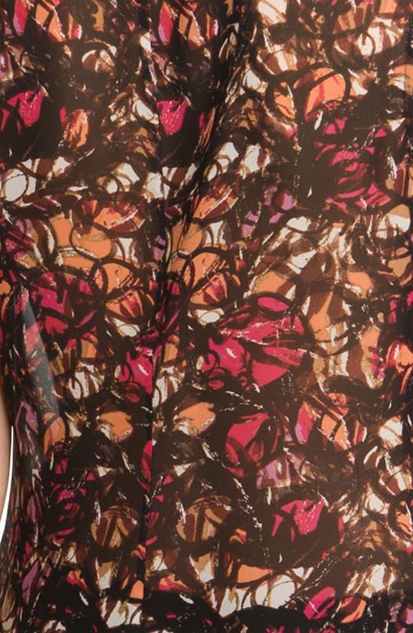 Alternate Image 3  - Nic + Zoe Print Drape Neck Blouse