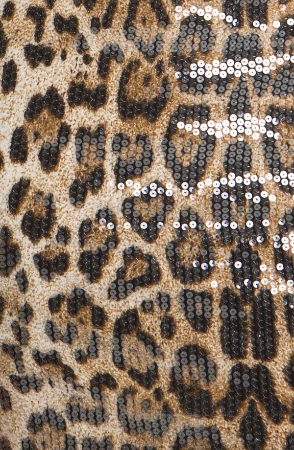 Alternate Image 3  - En Crème Animal Print Sequin Body-Con Dress (Juniors)