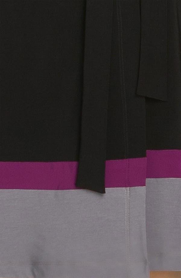 Alternate Image 3  - Alex & Ava Colorblock Jersey Wrap Dress