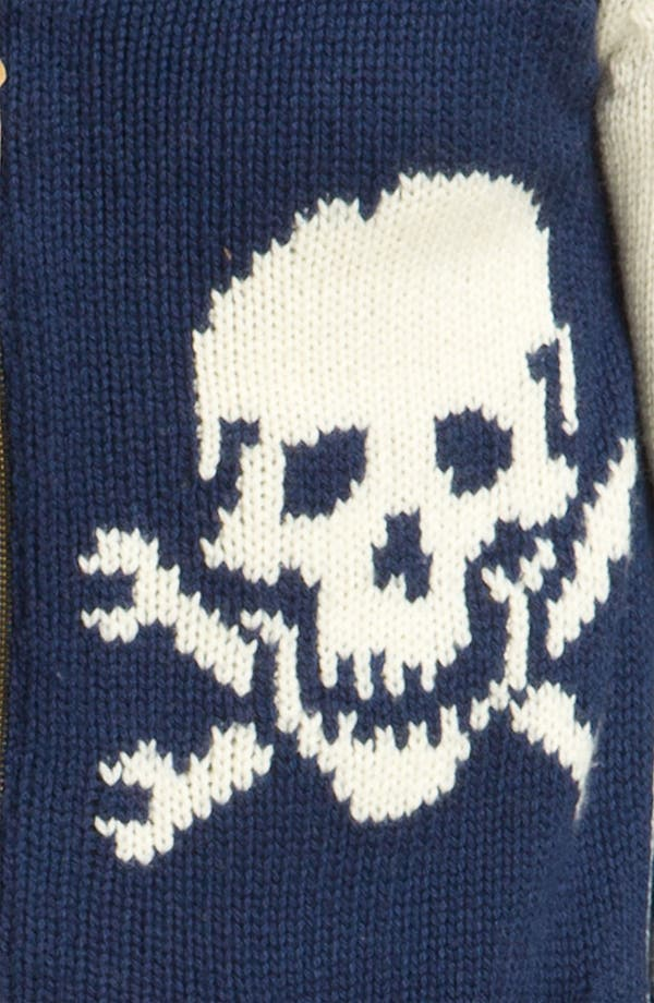 Alternate Image 3  - Deus Ex Machina 'Skulls' Shawl Collar Zip Sweater