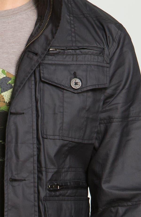 Alternate Image 2  - Kane & Unke Coated Cotton Trim Fit Jacket
