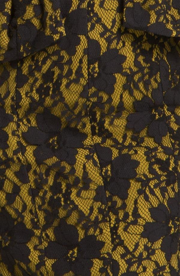 Alternate Image 3  - BCBGMAXAZRIA Lace Overlay Peplum Sheath Dress