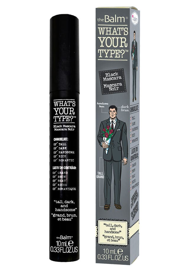 Main Image - theBalm® 'What's Your Type® - Tall, Dark & Handsome' Mascara