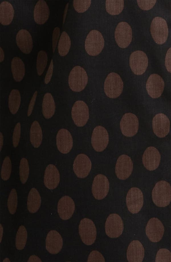 Alternate Image 3  - Foxcroft Dotted Long Sleeve Wrinkle Free Shaped Shirt (Plus)