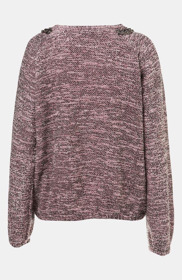 Alternate Image 2  - Topshop Chain Trim Bouclé Sweatshirt