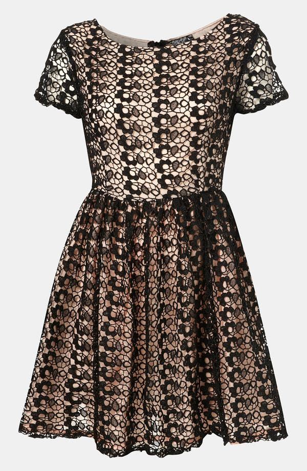 Main Image - Topshop Lace Skater Dress