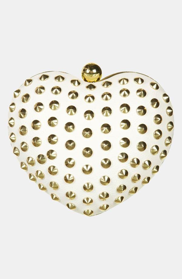 Alternate Image 2  - Topshop Stud Heart Box Clutch