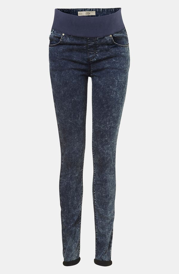 Main Image - Topshop 'Leigh' Maternity Acid Wash Skinny Jeans