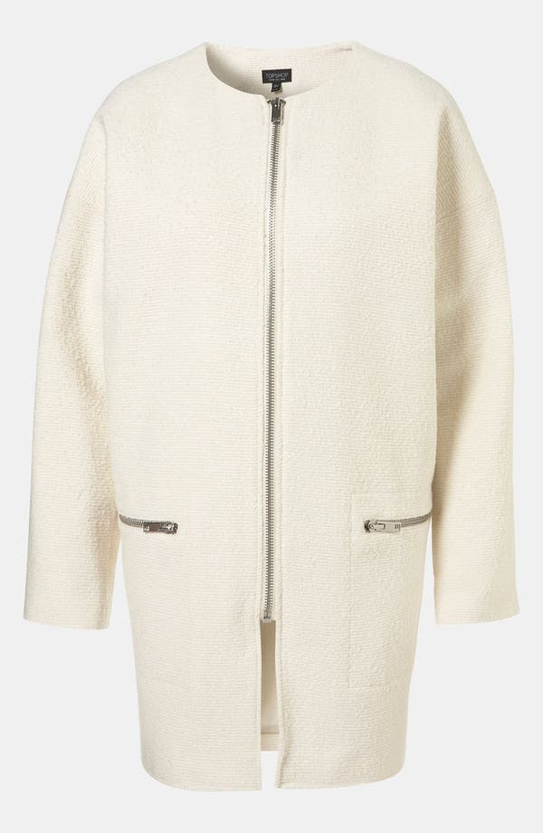 Alternate Image 1 Selected - Topshop Structured Bouclé Coat
