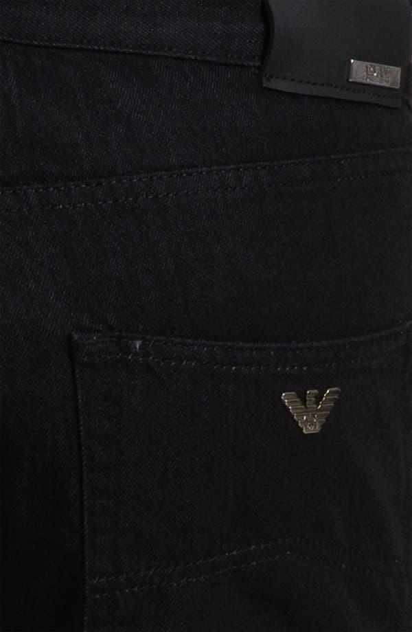 Alternate Image 4  - Armani Collezioni Straight Leg Jeans (Black Wash)