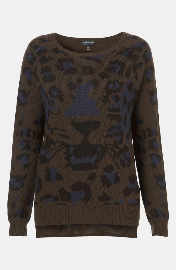 Alternate Image 1 Selected - Topshop 'Safari' Graphic Sweater